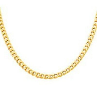 "9ct gold Diamond Cut Curb  Chain in Sizes 16"",18"",20"" Weight 1.2 G - 1.5G"