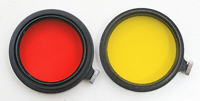 Used Leica 36mm Clamp On Red Filter and Yellow Filter, 1 Each