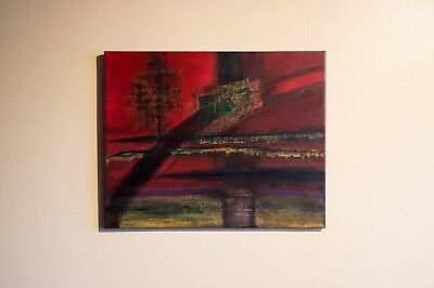 """Original Abstract Painting Acrylic Art on Canvas """"The Gate"""""""