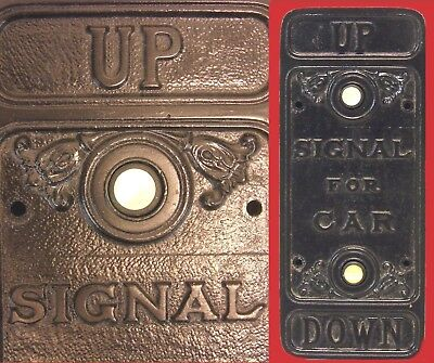 Art Nouveau Industrial Cast Iron Hotel Elevator Switch Car Push Button Control