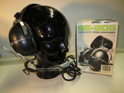 PILOT INTERCOM HEADSET CARTER CE 287TR-1 BOOM MIC PIONEER SE-205 set #2