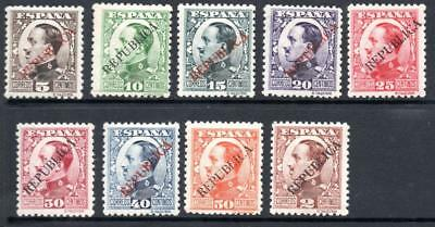 Spain 1931 Alfonso surcharged REPUBLICA set mounted mint