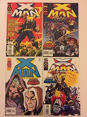 X-Man #1, 2, 3, 4 (Marvel Comics, 1995) VF/NM (4 Comics) Age Of Apocalypse