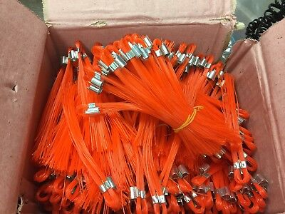 "6"" Stake Chaser Whiskers/Line Mark Flags, Glo Orange - 500 Count Box"