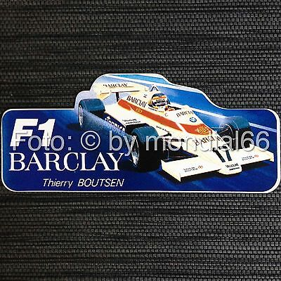 F1-Aufkleber Thierry Boutsen - Barcley Arrows-BMW 1984 ☆TOP! ★ Rarität!☆ Sticker