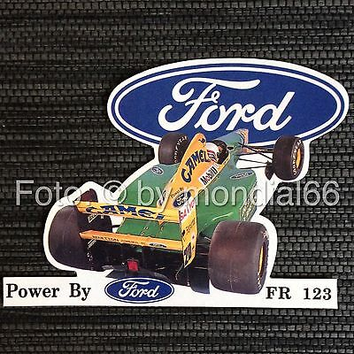 F1-Aufkleber: Martin Brundle 1992 Benetton-Ford B192 ☆ TOP! ★ Rarität! ☆ Sticker
