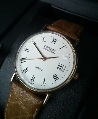 Certina Kurth Frères edition,  9 K solid gold , dress watch , new battery ,