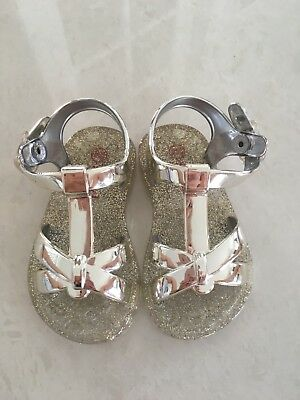 Baby Girl SEED sandals Size 18-24 Months Gold With Jelly Sole