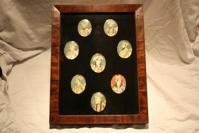 RARE 8 Very Fine 19th Century Indian Miniature Portraits of Mughal Maharajahs