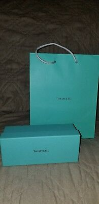 """One Tiffany & Co Gift Bag - Size Small 6"""" H x 5"""" W X 3"""" D with Glasses box"""