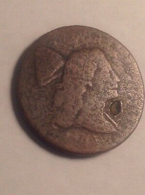 Capped Liberty Large Cent Lettered Edge date not readable