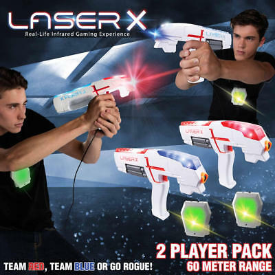 LASER X Ultimate High Tech Two Player Laser Tag Game Set 60m 2 X toy guns gun.