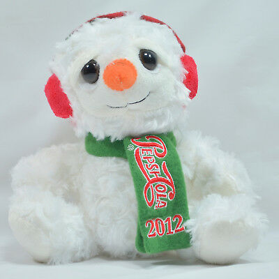 Pepsi Cola Collectible Cute Snowman Plush with Tags scarf Stuffed Animal 2012