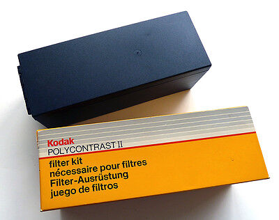 Deluxe Kodak Polycontrast 2 Filter Kit Box Photography Darkroom Enlarger 1 OWNER