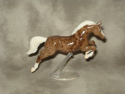 Breyer CM Glossy Decorator Brown Spotted Marbled Warmblood Jumper Stablemate