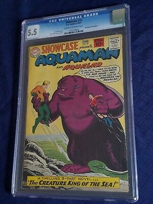 SHOWCASE #32 (1961) DC CGC Fine 5.5 3rd Silver age AQUAMAN Set up for auction