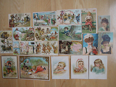 Lot of 19 Advertisement Trade Card W.F. McLaughlin's Coffee Arbuckle's Dilworths