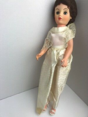 Antique 1950s Wedding Baby Doll With Clothes And Shoes Creepy Doll