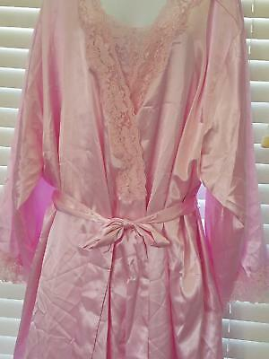 Amoureuse Full Length Peignoir Gown Set Size 5X Beautiful Pink