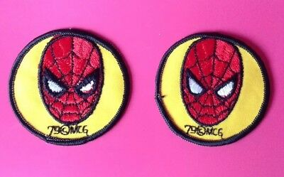 TWO (2) VINTAGE SPIDERMAN PATCHES by RAINBOW EMBLEM CO. 1979.