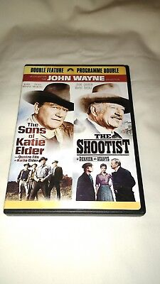 The Sons of Katie Elder/The Shootist (DVD, 2007, Widescreen) ~ JOHN WAYNE
