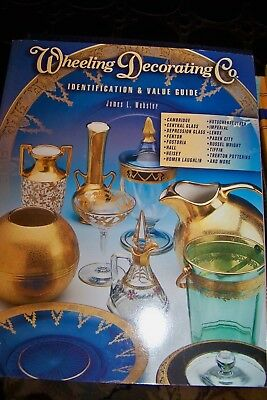 Identification/price Guide Book On Antique Wheeling Glass