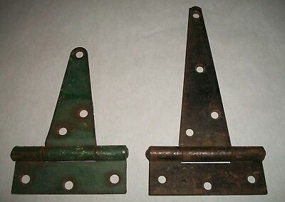 "Vintage 7"" GATE HINGE with Screws--Strong Steel--Unused Barn Door Hinge"
