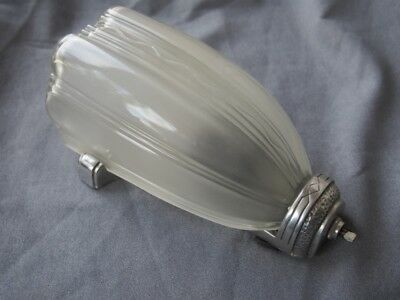 Vintage Antique Art Deco Wall Sconce With Slip Shade Lamp Light Glass Fixture