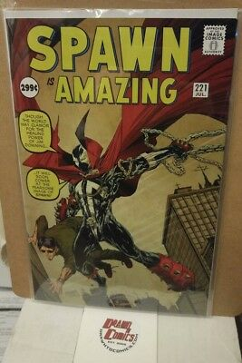 Spawn #221 McFarlane Amazing Fantasy #15 Homage cover HTF NM