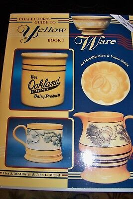 Identification/price Guide Book On Yellow Ware Volume 1