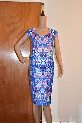 Maternity Blue Stunning Dress  A Must Have Outfit !! Sizes:S,M,L,XL