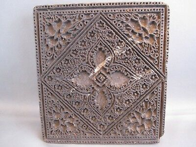 RARE Antique Printing wood block hand carved for Textile/Fabric Border India