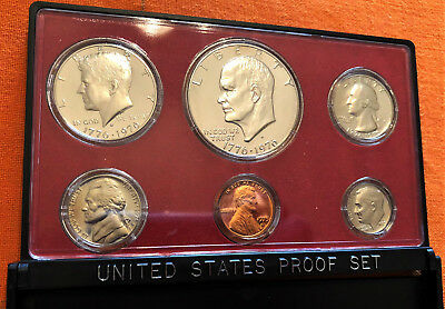 "1975 ""S"" UNITED STATES (US) 6 Coin PROOF SET ** FDC ** Beautiful Coins!!"