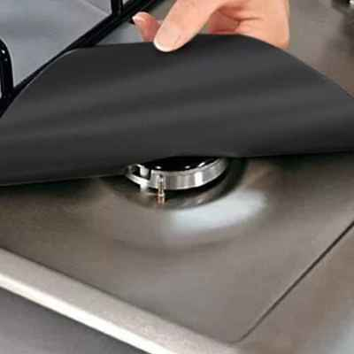 Kitchen Oven Gas Cooker Stove Range Cooktop Burner Clean Protection Cover Mat