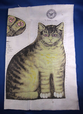 cloth TABBY CAT RAG DOLL print pillow UNCUT FABRIC piece ARNOLD PRINTWORKS
