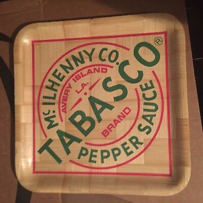 """Tabasco Pepper Sauce 13"""" Woven Bamboo Tray McIlhenny Co."""