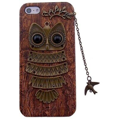 Unique Real Handmade Bird Chain Owl Hard Back PHONE Case For iPhone 5 iPhone 5s
