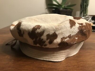 Vintage 60's Lilly Dache Dachettes Wome's Brown/White Pony Hair Hat