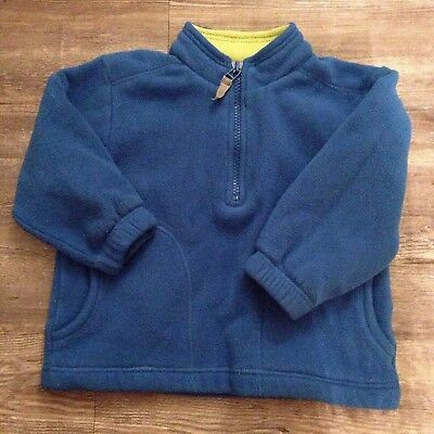 Hanna Andersson 80 Boys Fleece Pulover Sweater Blue US 18-24M