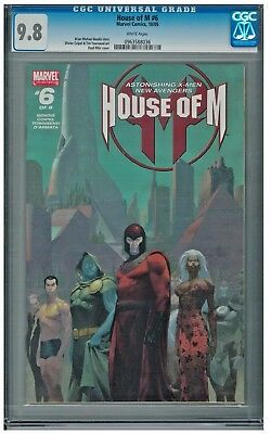 House of M #6 CGC 9.8 White Pages Bendis Story Magneto New Avengers X-Men