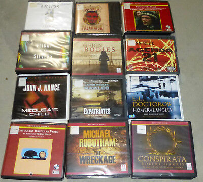 Lot of 12 Adult Fiction Unabridged audiobooks on CD