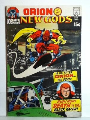 """DC ORION of THE NEW GODS #3 July 1971 """"DEATH IS THE BLACK RACE ! Very Good Cond."""