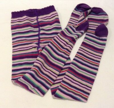 Country Kids Girl's Tights Purple Stripes Size 6-8