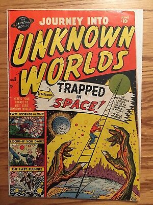 Journey into Unknown worlds 5  June 1951 atlas comics  good married centerfold