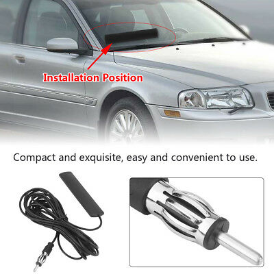 ANT-309 Universal Car FM Radio Antenna Patch Windscreen Aerial Plastic 5M Cable