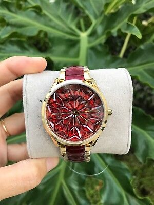 Michael Kors Limited Edition - RARE MK6524 Christmas Red Gold Watch $425 New