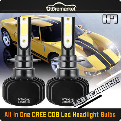 H7 LED Headlight Bulb Conversion Kit High Low Beam Fog Lamp 6000K White 120W
