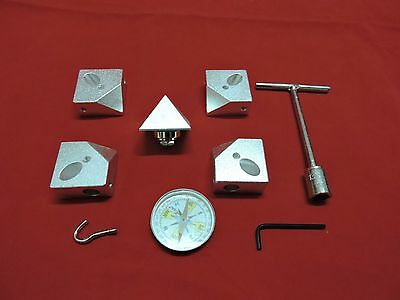 """Giza Pyramid Connecting Connector corner kit for 1/2"""" or 12.7 mm Pipes Aluminium"""