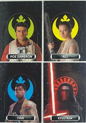 Force Attax Extra STAND - UP CARD Set of 10 FORCE AWAKENS March 2016  129 - 138