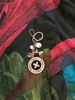 MIMCO Rose Gold Button Up Keyring with TAG & POUCH NEW Authentic RRP79.95